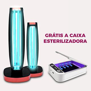 KIT 2 Germicidas UV light + Grátis Caixa Esterilizadora